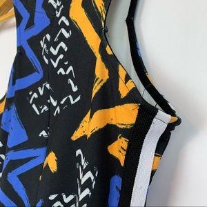 Topshop Dresses - Topshop | Graffiti Print Bodycon Fitted Mini Dress